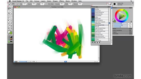 Color sets: choose 'n' use color: Painter 11 Essential Training
