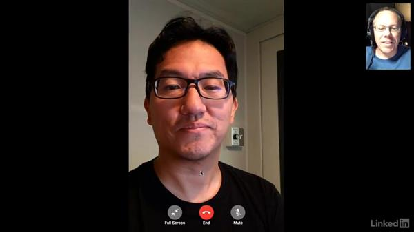Using FaceTime for audio and video calls: macOS Sierra Essential Training
