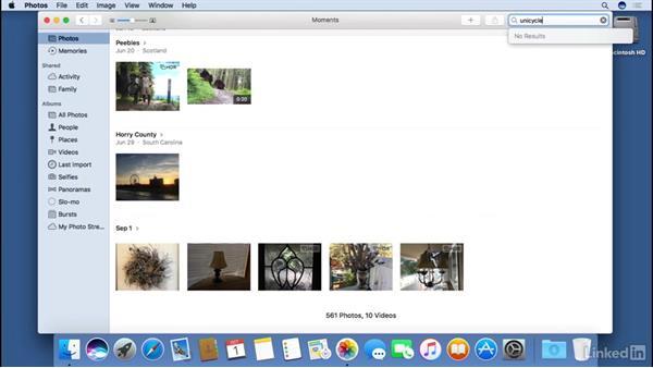Searching photos: macOS Sierra Essential Training