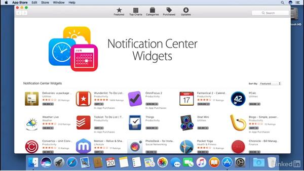 Working with the Today view in Notification Center: macOS Sierra Essential Training