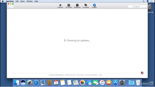 Using the App Store to install and update applications: macOS Sierra Essential Training