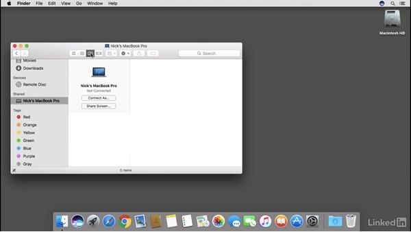 Sharing files, printers, and screen control over a local network: macOS Sierra Essential Training