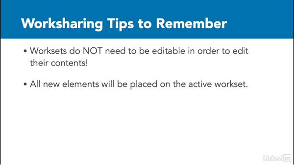 Worksharing tips: Revit Worksharing: Users