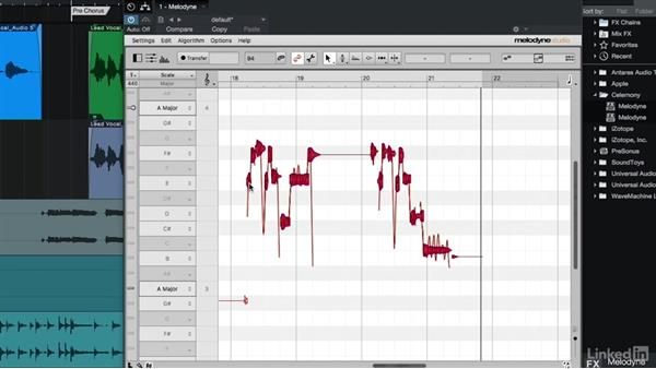 Creating harmonies with Melodyne: Vocal Production Techniques: Editing and Mixing in Studio One