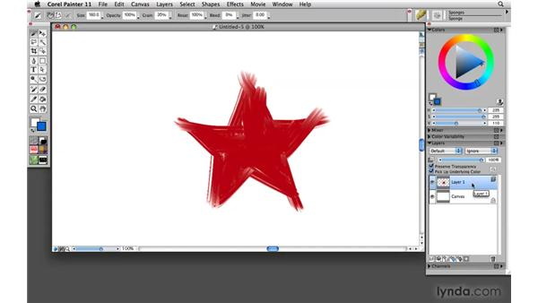 Using the Preserve Transparency control: Painter 11 Essential Training