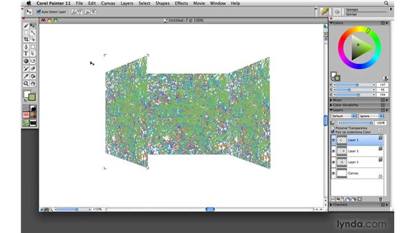 Resizing and rotating layers using the Transform tool: Painter 11 Essential Training