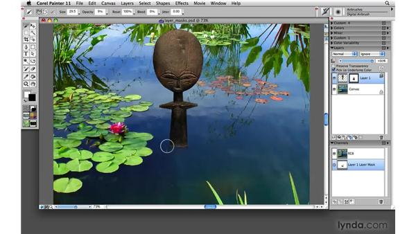 Working with layer masks: Painter 11 Essential Training