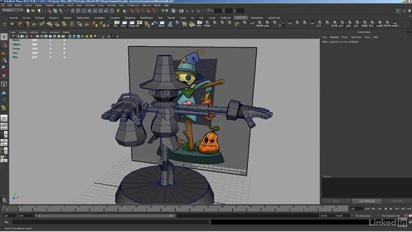 Creating base meshes in Maya: ZBrush: Sculpt a Scarecrow