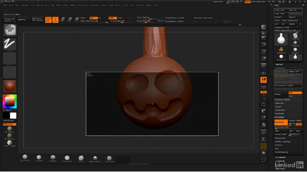 Using DynaMesh and ZRemesher: ZBrush: Sculpt a Scarecrow