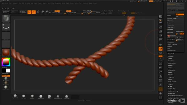 Repairing rope with DynaMesh and ZRemesher: ZBrush: Sculpt a Scarecrow