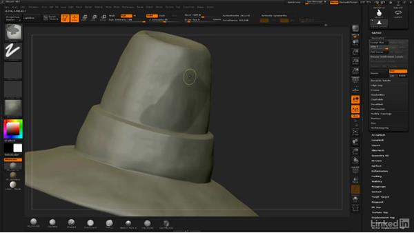 Hat band and patch: ZBrush: Sculpt a Scarecrow