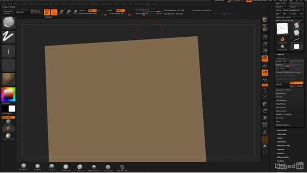 Creating wood grain: ZBrush: Sculpt a Scarecrow