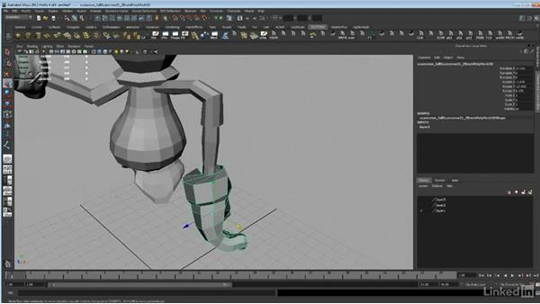 Repairing geometry and exporting from Maya: ZBrush: Sculpt a Scarecrow