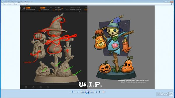Assessing work In progress: ZBrush: Sculpt a Scarecrow