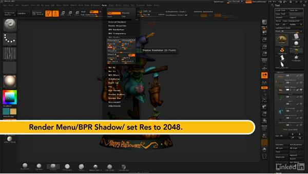 How to use render settings  in ZBrush: ZBrush: Sculpt a Scarecrow