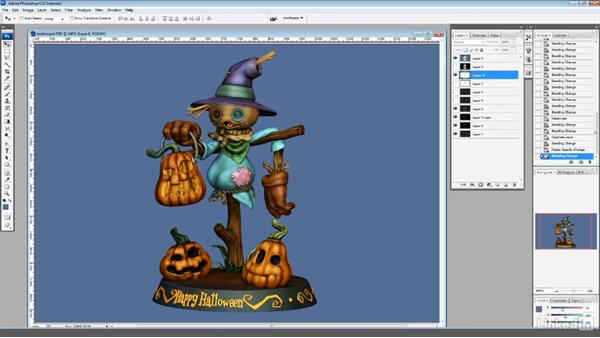 Creating a final render in Photoshop: ZBrush: Sculpt a Scarecrow