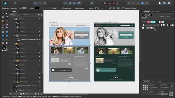Building your first mock-up: UX Design Tools: Affinity Designer