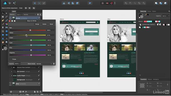 Creating your first hero image treatment: UX Design Tools: Affinity Designer