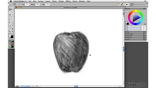 Draftsmanship: drawing media: Painter 11 Essential Training