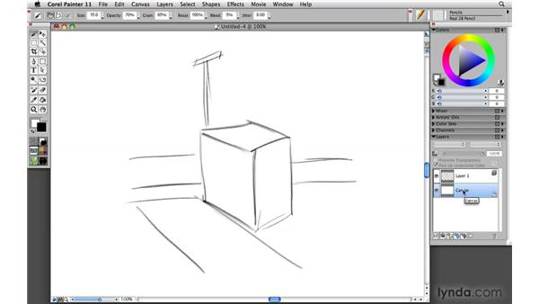 Creating outline sketches utilizing the conceptual squint: Painter 11 Essential Training