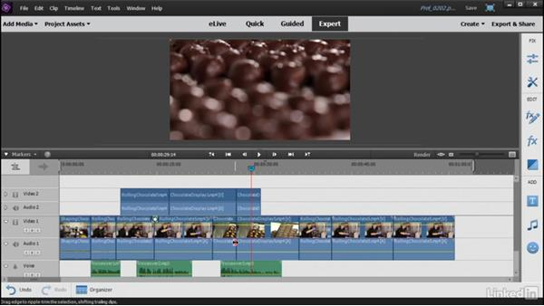 Adding media to the timeline: Learning Premiere Elements 15