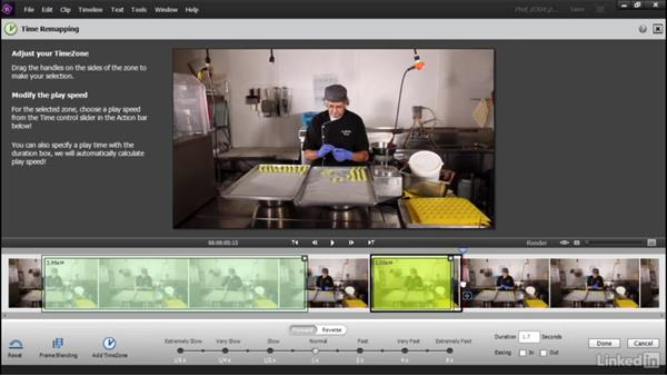 Precisely controlling playback speed: Learning Premiere Elements 15