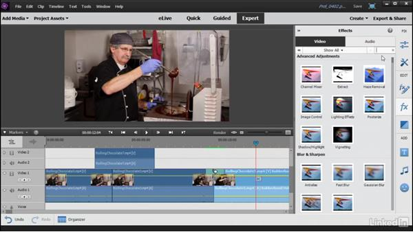 Adding video effects to your movie: Learning Premiere Elements 15