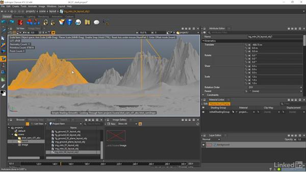 Import OBJs into Clarisse: Matte Painting: Environments for Film