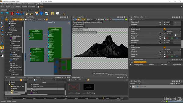 Creating a rock and sand shader: Matte Painting: Environments for Film