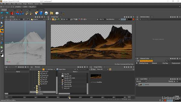 Projection setup: Matte Painting: Environments for Film