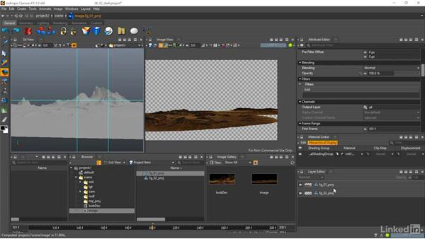 Creating render layers: Matte Painting: Environments for Film