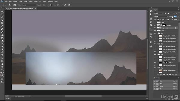Key art: Painting the sky: Matte Painting: Environments for Film