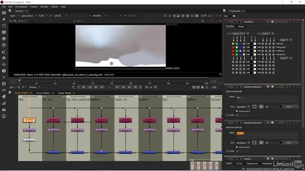 Importing layers into Nuke: Matte Painting: Environments for Film