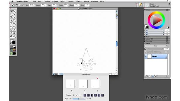 Creating an animation with onion-skinning: Painter 11 Essential Training
