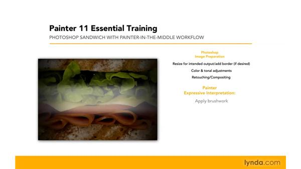 Using each application for its strengths: Painter 11 Essential Training