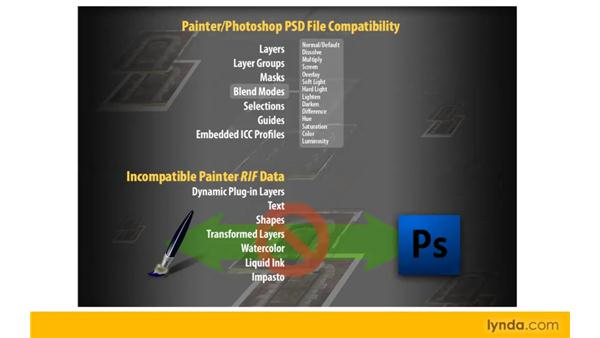 Working with Photoshop's PSD file format in Painter and Photoshop: Painter 11 Essential Training