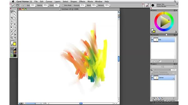 Saving and restoring palette layouts: Painter 11 Essential Training