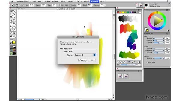 Creating custom palettes: Painter 11 Essential Training