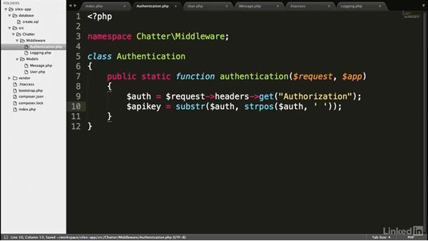 API authentication middleware: Building APIs in PHP Using the Silex Micro Framework