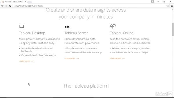 Downloading Tableau: Tableau 10 Essential Training