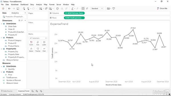 Formatting chart elements: Tableau 10 Essential Training
