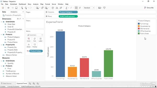 Changing the color sequence in charts: Tableau 10 Essential Training
