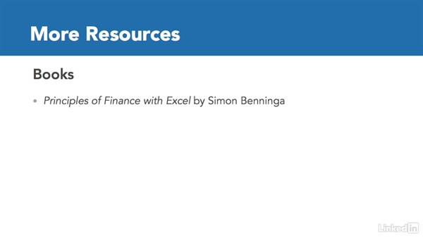 Next steps: Excel 2013: Financial Functions in Depth