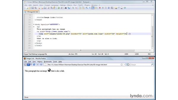 Creating image links: XHTML and HTML Essential Training