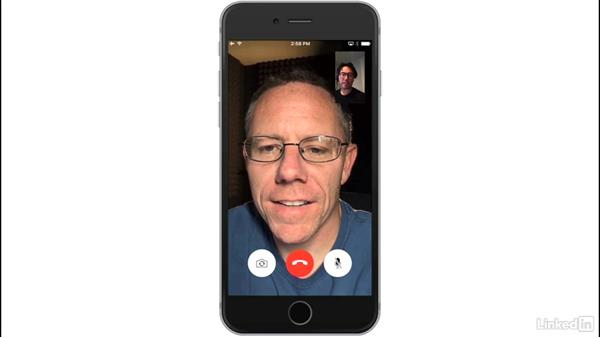 Make video calls with FaceTime: iOS 10: iPhone and iPad Essential Training