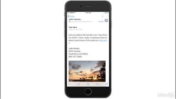 Manage and reply to incoming email: iOS 10: iPhone and iPad Essential Training