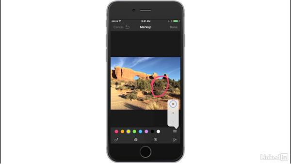 Annotate attachments: iOS 10: iPhone and iPad Essential Training