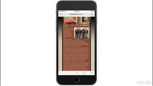 Use Reader and the Reading List: iOS 10: iPhone and iPad Essential Training