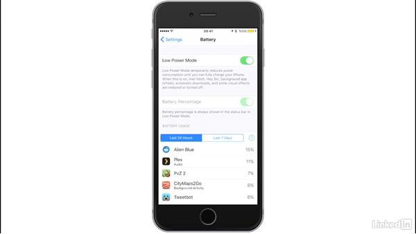 Battery: iOS 10: iPhone and iPad Essential Training