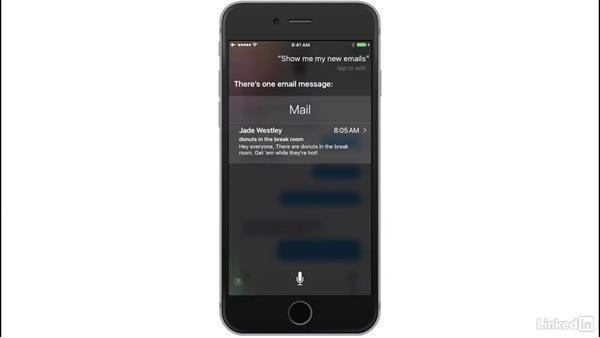 Listen and respond to messages: iOS 10: iPhone and iPad Essential Training